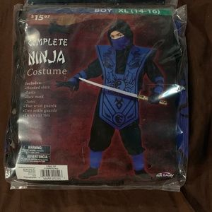 Other - Black and blue complete Ninja costume